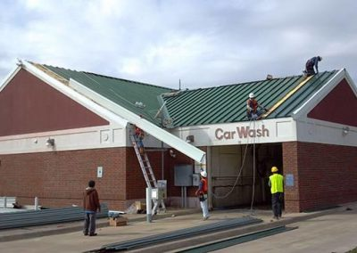Standing Seam Roof On Rowlett Shell Gas Station Roof